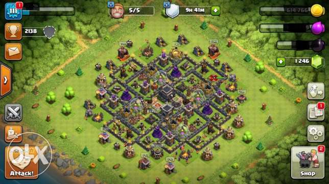 Clash of clans Town Hall 9 قريه
