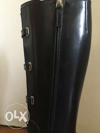 Black leather Boss boots 2015, only worn twice وسط القاهرة -  3