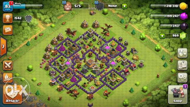 Clash of clans level 8 مااكس