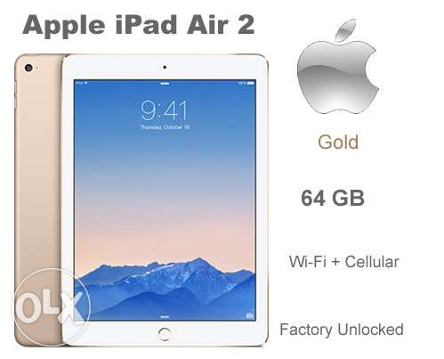 ipad air 2 64gb gold wifi cellular