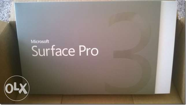 BRAND NEW Microsoft Surface Pro 3 Core i5 128GB ssd 4GB RAM+keyboard