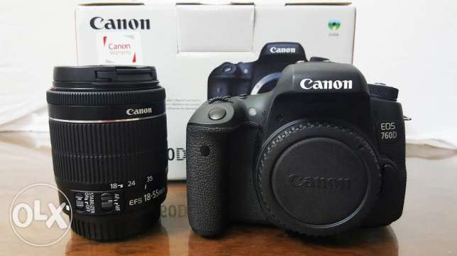 4Sale Canon 760D24.2 MP + 18-55 STM