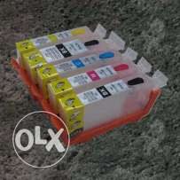 Multi Color Compatible Canon Ink Cartridge -Refillable