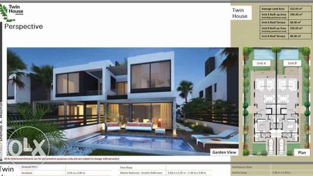 twin house in palm hills new cairo