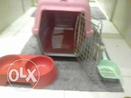 Cat box,litter remover,food/water holder.