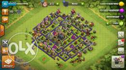 Sell account clash of clans starting town hall9 maxed town hall 8