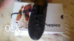 Hush puppies black sued for women