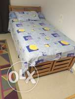 bed 1 meter + mattress yansen