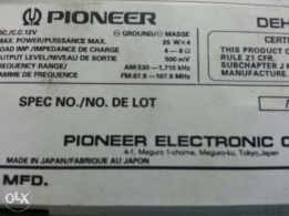 CD car pioneer made in Japan