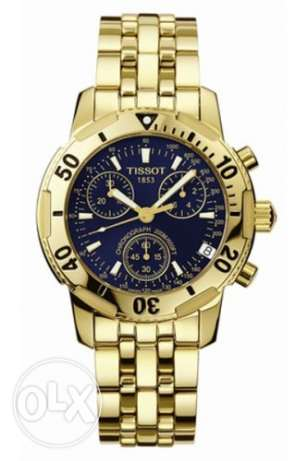 Tissot T-Sport Men's 18Kt-Gold-Plated PVD Chronograph Watch