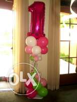 Pink Number 1 SuperShape Very Large Foil Balloon from Germany