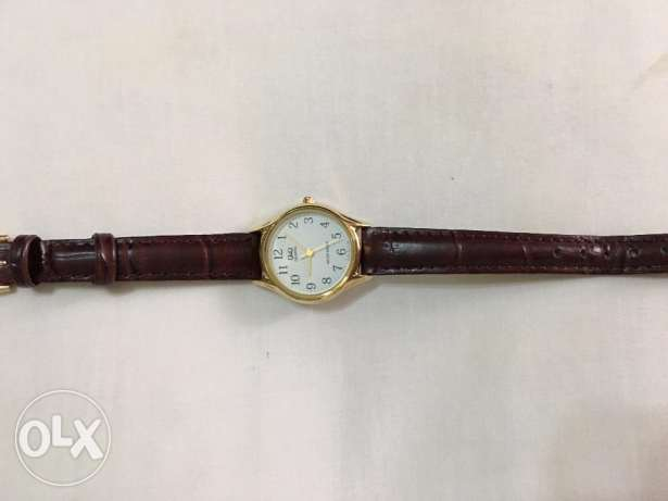 Q&Q Brown Leather female watch