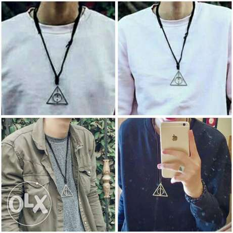 Leather Deathly Hallows Necklace