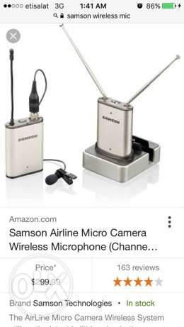 new Samson wireless microphone