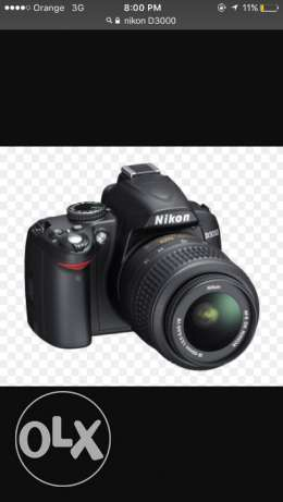 Nikon D3000 with new updated nikon lens 18-105(not the standard lens)