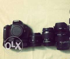 Canon 650d with linses