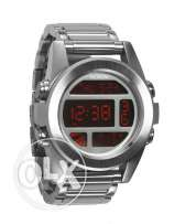 Nixon Digital Silver Watch