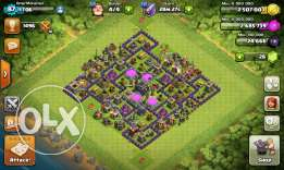 Clash of clans account town hall lvl 9 for sale