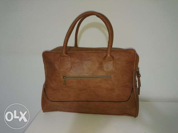 Handbag Leather Camel Color