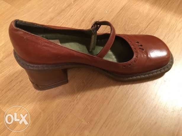 Mango shoes dark caramel brown مدينة الرحاب -  2