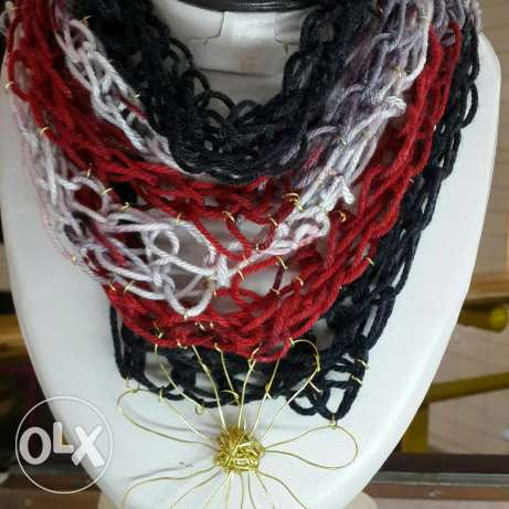 Black, red and gray necklace مصر الجديدة -  1