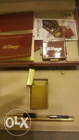 dupont gold plated set pen and large lighter القاهرة -  1