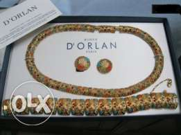 D'orlan paris 3 pieces gold plated set made in canada