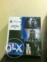 Ps4 1 tb new with 3 games