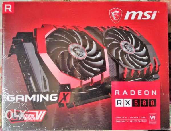 كارت شاشة متبرشم جديد NEW MSI RX 580 GAMING X 4G