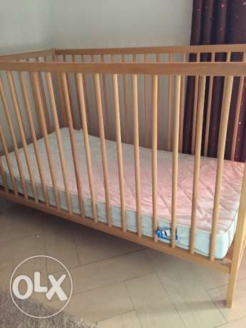 IKEA cot bed and mattress