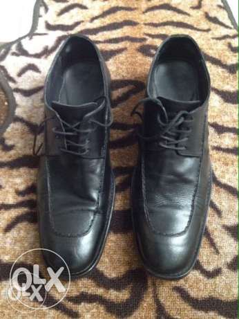 Classic Shoes Black جلد طبيعى