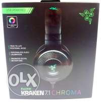Razer Kraken 7.1 Chroma Gaming Headset **جديدة متبرشمة**
