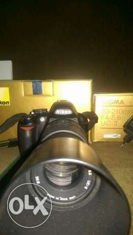 D3100 with lens 70_210 sigma