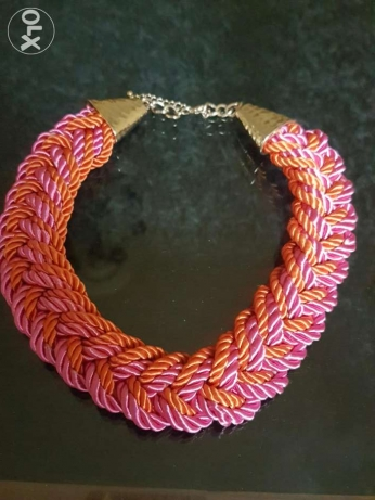 Orange and pink necklace مصر الجديدة -  1