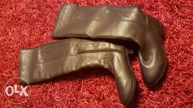 Genuine leather Aldo brown boots size 40