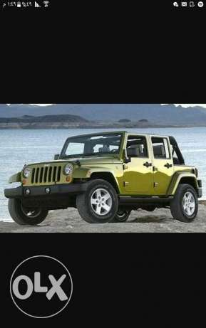 Looking for a jeep wrangler 2007 or 2008 مطلوب جيب رانجلر 2007 أو 2008