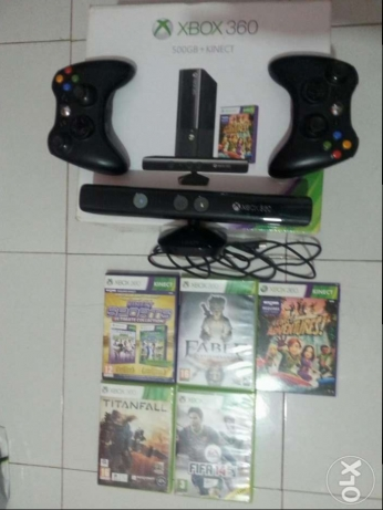 Xbox 360 super slim + 500GB+ kinect + gold membership 3-month+10games