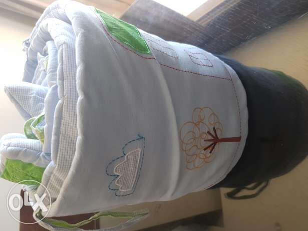Mothercare long cot bumpers(washable)