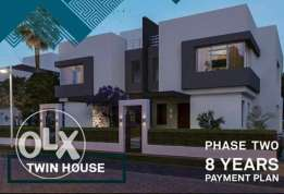Twin house for sale at new cairo 10% & 8 years instulments