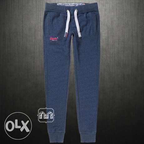 100% Original WOMEN'S Superdry Slim Fit Joggers In Blue