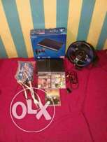 ps3 superslim with fifa 17,uncharted 3,need for speed and racing wheel
