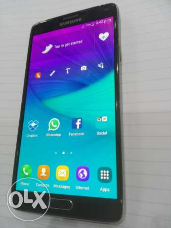 Note 4 black with box 4G حاله ممتازه