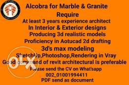 Require architect In Interior &Exterior designs Producing 3d realistic