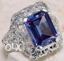 Gorgeous Women 925 Solid Silver Amethyst Ring
