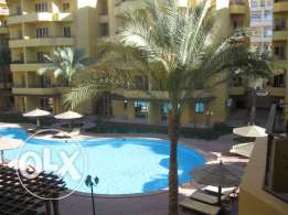 Flat in Kawther, near Mamsha, in British Resort, sw. pool, 94m,2 b