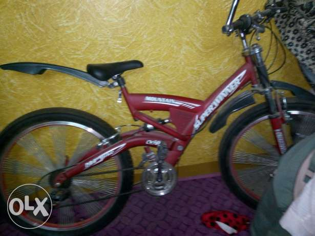 Bike 24 used like new red color شبرا -  4