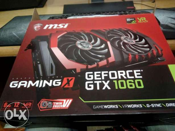 MSI GTX GAMING X 1060 6Giga in warranty like new