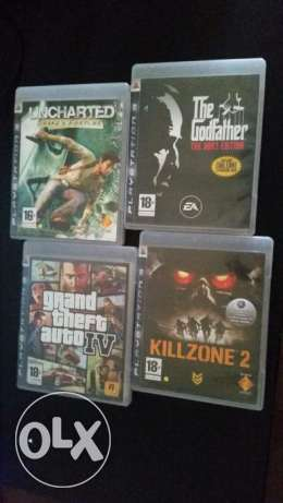 4 PS3 Games For Sale .. 200 L.E Each