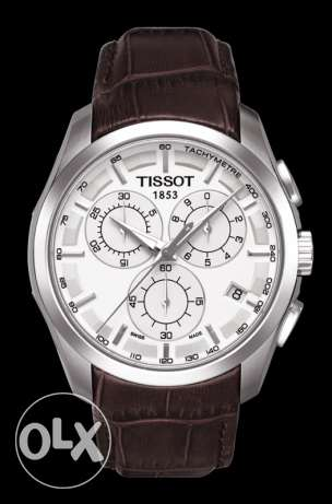 Tissot men watch (original) brown leather strap