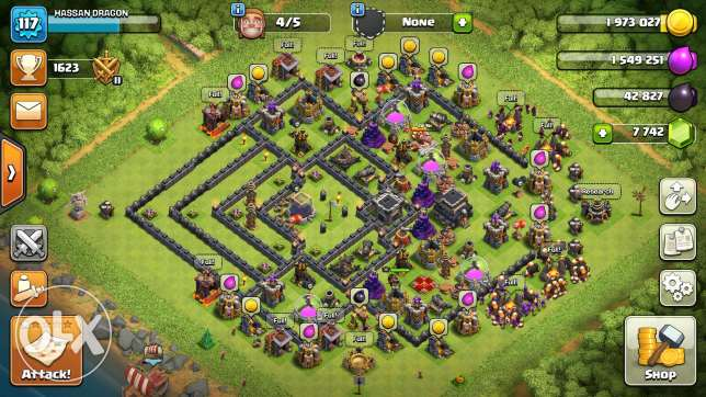 Clash of clans th8 95% max 6 أكتوبر -  1
